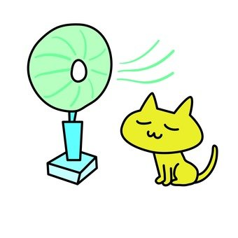 Cooling cat with a fan