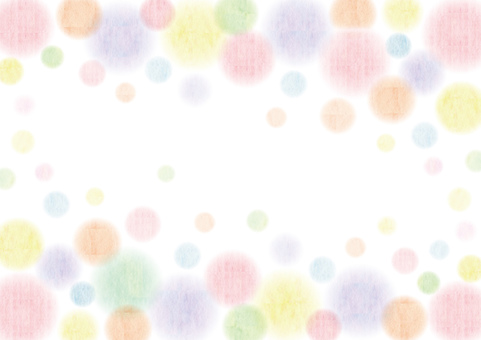Watercolor _ water polka dot frame