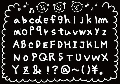 Alphabet handwriting style