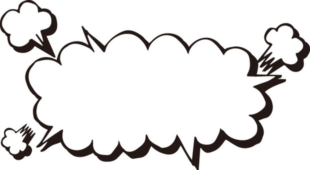 Speech bubble (explosion bevel · black and white)