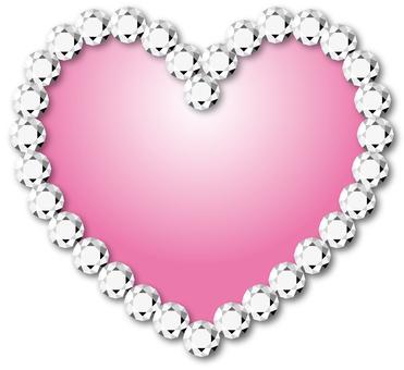 Heart _ Diamonding _ Pink