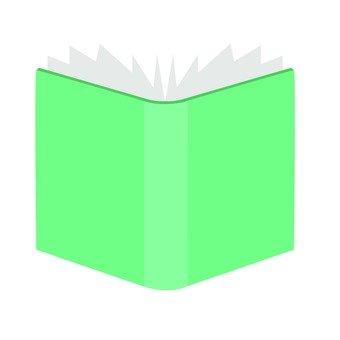一本打開的書