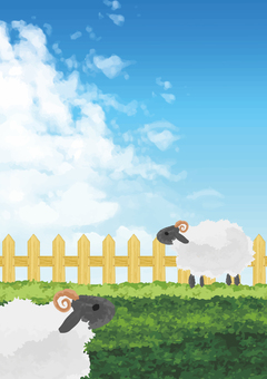 Sheep at sheep (vertical)