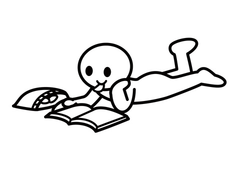 Stickman-Reading a magazine while rumbling