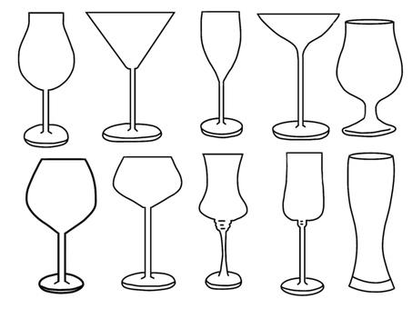 Wine glass (no shadow)