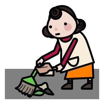 Mother who sweeps