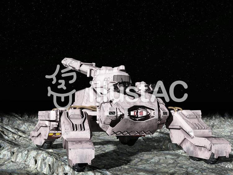 惑星上の戦車のイラスト