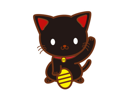 Invitation cat (black)
