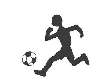 Soccer style silhouette (soccer player