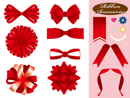 Ribbon types various colors _ red