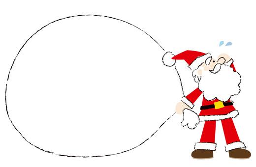 Santa's decorative frame bag