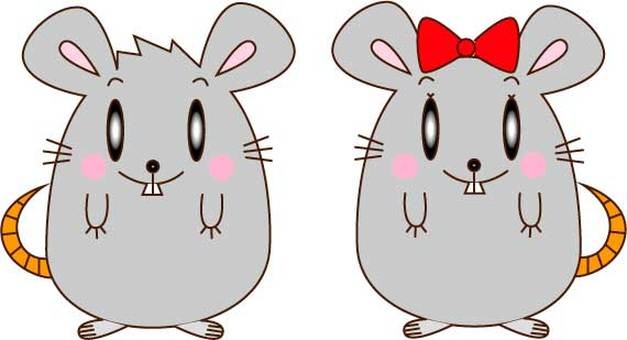 Mouse couple stand
