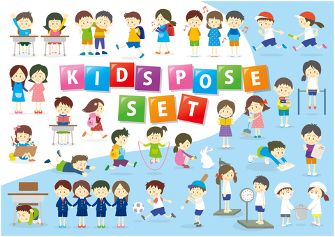 Kids pose SET