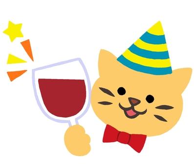 Party cat cat color 2