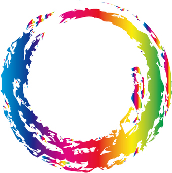 A rainbow-colored circle