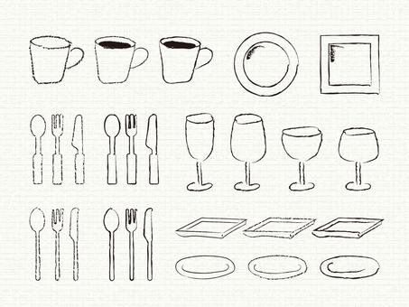 Hand-painted material _ tableware
