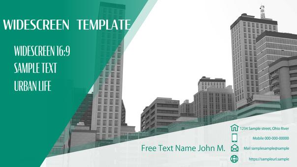 비즈니스 템플릿 빌딩의 예 16 : 9