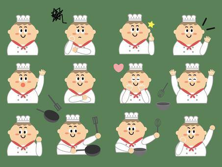 シェフの色々な表情セット