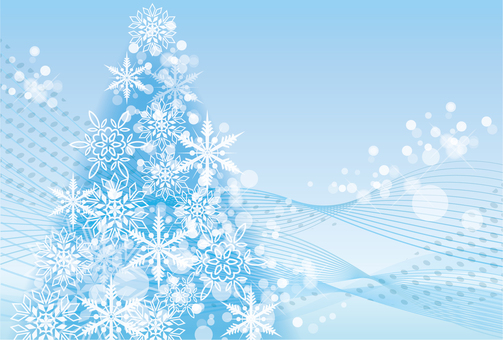 Snow frame background
