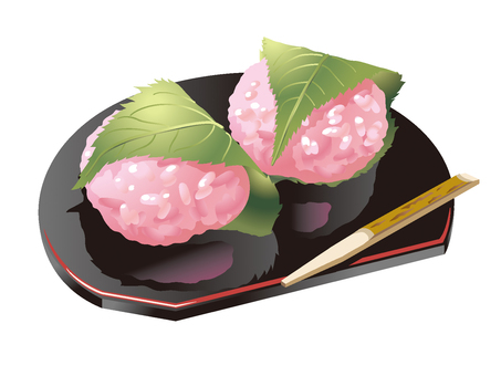 Japanese sweets illustration material 02