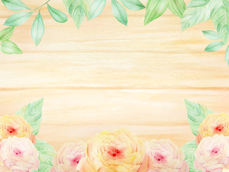 Roses and wooden board frames