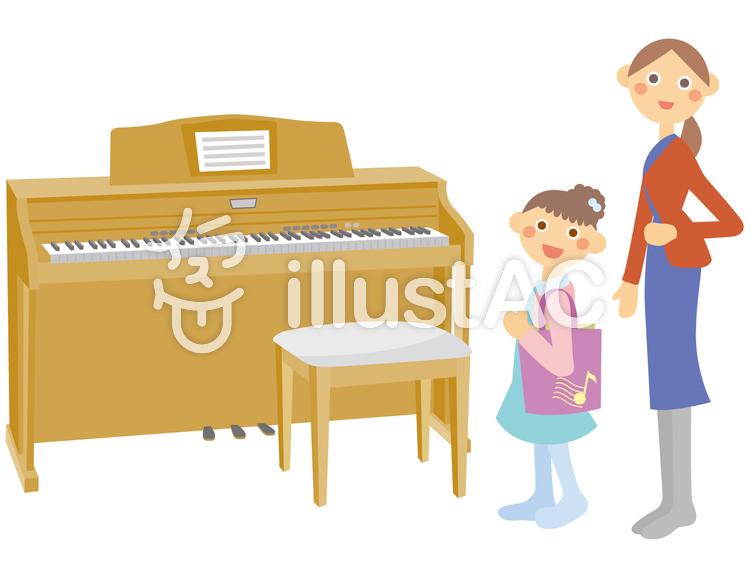 ピアノレッスン_2のイラスト