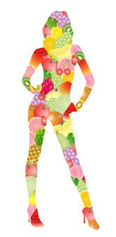 水果素食女孩