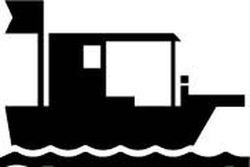 Work ship silhouette