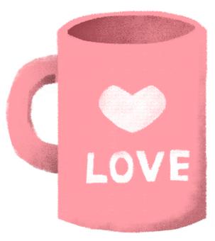 Heart Mug Cup Pink 2