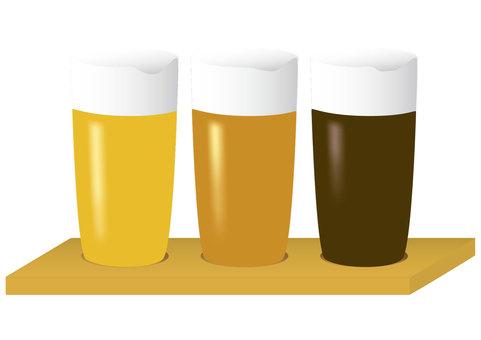 ビール 三種飲み比べ