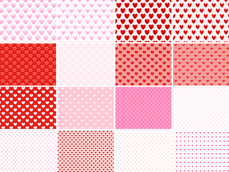ai Heart pattern · with swatch set