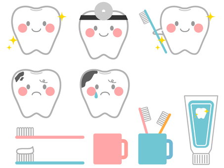 Various tooth characters