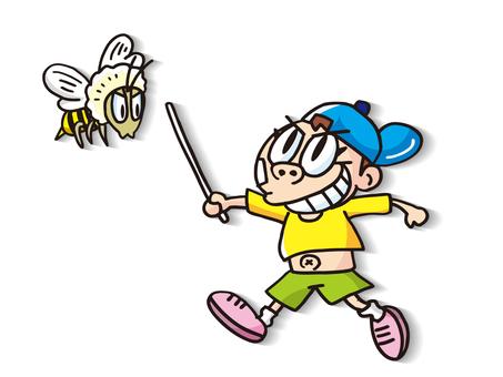 一個男孩和一隻蜜蜂