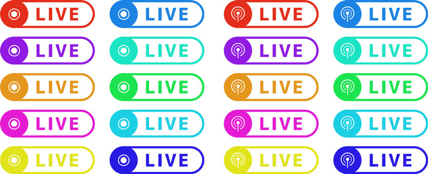 LIVE delivery icon set D