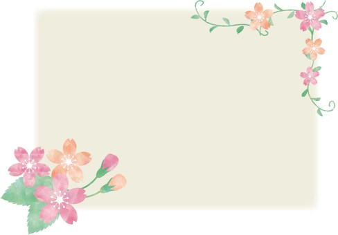 Cherry blossoms _ Pastel _ frame