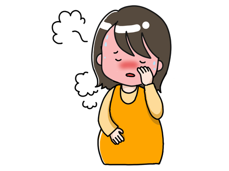 Pregnant woman with fever