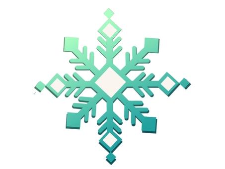 Snow crystal ①