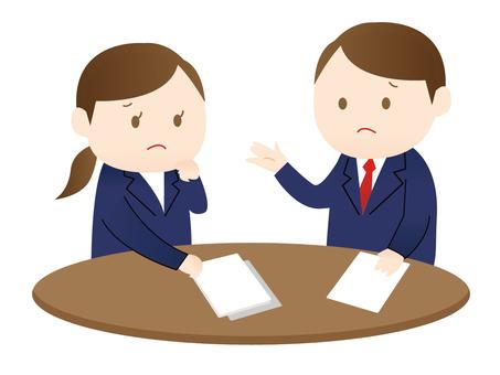 Men and women making meetings 2