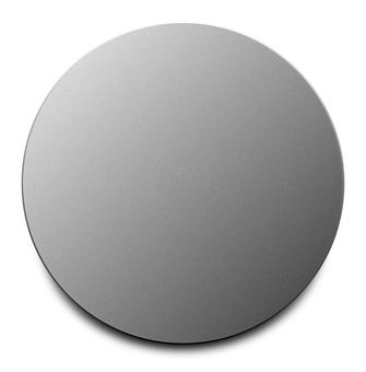Simple round button metallic