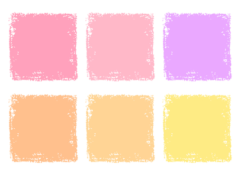 Cream pink square painted with crayons