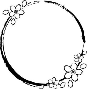 櫻花的單色框架