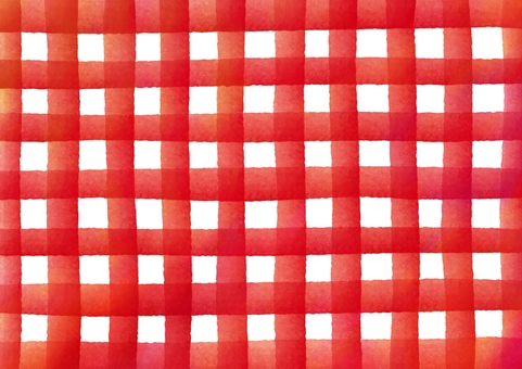 Check patterned watercolor texture · red color