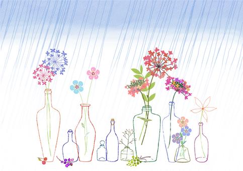 Hydrangea and rainy day