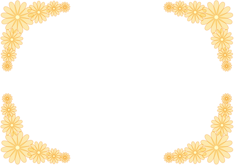 Frame - Flowers - Orange