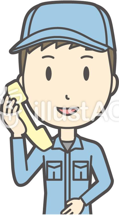 作業員青年-302-バストのイラスト