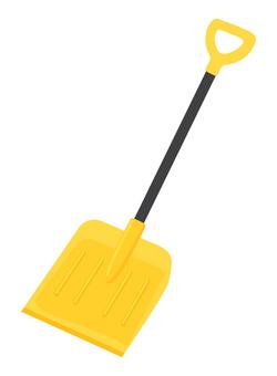 雪掻きスコップ_黄色