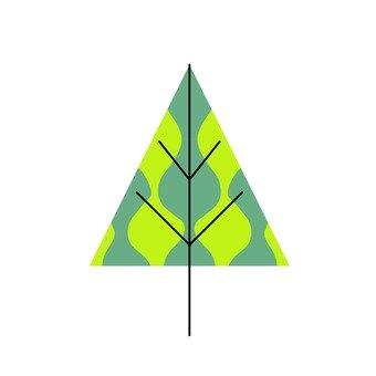 북유럽 풍 나무 (녹색 삼각형)