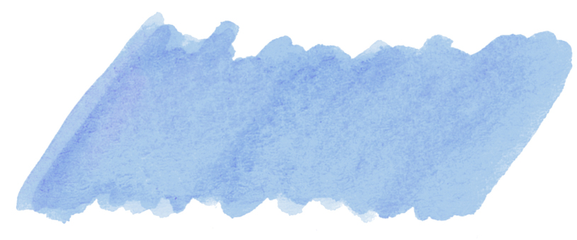 Watercolor frame blue