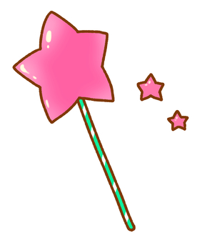 Star cane (pink)