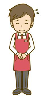 男性(店員):B_お辞儀02FS